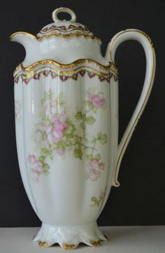 Haviland Double Gold 66N Floral Chocolate Pot