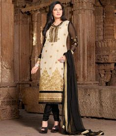 Get #Beautiful look at any #occasion with these Designer #Straight #SalwarSuits. Buy Now: - http://www.shoppers99.com/salwar_suits/contemporary_designer_churidar_salwar_suits_collection