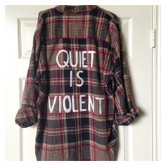 Twenty One Pilots hand painted flannel (made to order) ❤ liked on Polyvore featuring tops and twenty one pilots