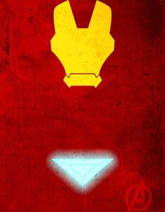 Iron Man Minimalist Superhero Poster