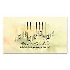 Musician Music Teacher Business Card