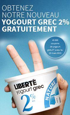 Yogourt grec Liberté gratuit ! Fin le 10 mars.   http://rienquedugratuit.ca/nourriture/yogourt-grec-liberte-gratuit/