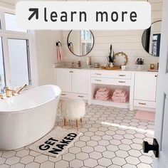 Bathroom interior design 306948530855824525 - Love this bathroom. Probably would do wood floors or squared tile Source by Dream Bathrooms, Dream Rooms, Teen Bathrooms, Master Bathrooms, Shiplap Master Bathroom, White Bathrooms, Small Bathrooms, Aesthetic Rooms, Bathroom Interior Design