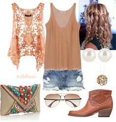 """Cute Summer Country Outfit"" by natihasi on Polyvore  Sandals instead of boots"