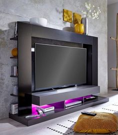 Top 50 Modern TV Stand Design Ideas For 2020 - Engineering Discoveries Tv Stand Modern Design, Tv Stand Designs, Modern Tv Room, Modern Tv Wall Units, Tv Cabinet Design, Tv Wall Design, Tv Showcase Design, Tv Wanddekor, Tv Unit Furniture