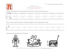 Traceable Alphabet Letter R Worksheet Letter Tracing Worksheets, Handwriting Worksheets, Tracing Letters, Uppercase And Lowercase Letters, Handwriting Practice, Teaching Kids To Write, Preschool Learning, Literacy Activities, Kindergarten Assessment