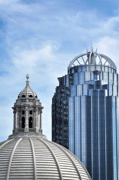 The Mother Church Dome and the 111 Huntington Avenue building
