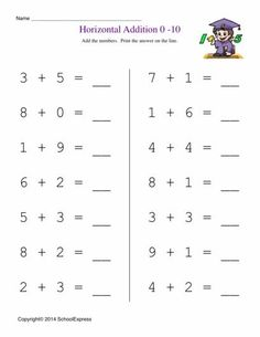 Worksheets Create Addition Worksheets addition worksheets and free on pinterest math story problems horizontal 1 10