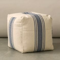 Cotton Canvas Pouf W