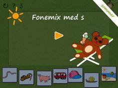 Lek med ord och bilder! Fonemix med s-ljudet är en variant av Fonemo. Syftet är att öva på s-ljudet och samtidigt stimulera skapandet av ordlekar och små sagor.
