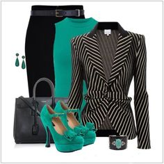 Awesome Striped Outfit Ideas for Different Occasions - Do you like those striped outfits? Why do you avoid wearing them? Although most of the striped outfits appear to be catchy and fascinating, there are . Classy Outfits, Chic Outfits, Fashion Outfits, Womens Fashion, Fashion Trends, Fashion Ideas, Fashion Bloggers, Business Outfits, Business Fashion