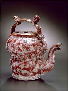 George E. Ohr (1857-1918) - Teapot. Biloxi, Mississippi.: