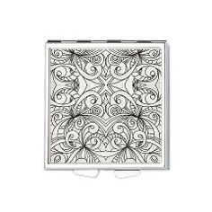 Cafepress Square Pill Box Floral doodle 1 http://www.cafepress.com/medusa81.877136794  Great design for polymer clay!