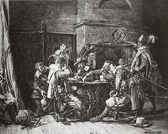 Gli scommettitori (Incisioni a mano) - Jean-Louis Ernest Meissonier