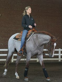 Um…UNF! Most red roans I see are stocky but short Quarter Horses, this guy is huge! I want!
