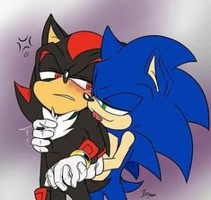 The boys taking a shower at Amy's house and Sonic happens to walk right in after Shadow is done. Headcanon - Shadow is living with Amy, Sonic secretly has feelings for Shadow while Shadow sees him . Shadow The Hedgehog, Sonic The Hedgehog, Hedgehog Movie, Reaction Pictures, Funny Pictures, Sonic Fan Characters, Sonic And Shadow, Sonic Fan Art, Cursed Images