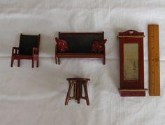Antique Miniature Gottschalk dollhouse furniture grouping c. 1910