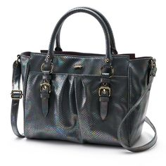 NWT Authentic Juicy Couture WOMEN'S Madison Large Pearl Python Satchel  #JuicyCouture #Satchel