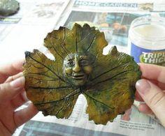 diy garden art   DIY Garden Art Leaf Sculpture by gardenmama: Great with giant leaves ...