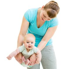 Fat-burning exercises you can do with baby.