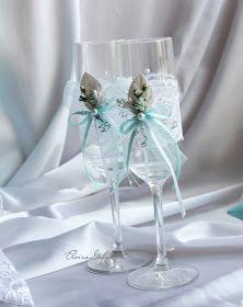 Привет! Обещанный набор свадебных аксессуаров в цвете Тиффани, к этим приглашениям . коробка-банк в форме торта ...