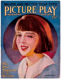 """Colleen Moore ~ """"Picture Play"""" magazine. ART by Henry Clive."""