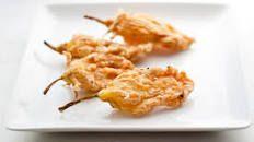Fried Cheese-Stuffed Zucchini Blossoms Recipe   Giada De Laurentiis   Food Network