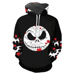 NIGHTMARE BEFORE CHRISTMAS HOODIE Hooded Sweatshirt B4 Xmas Jack Skellington