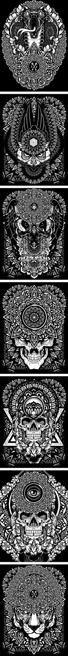 Mandala Exploration by Joshua M. Smith, via Behance