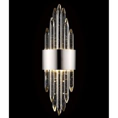 Everly Quinn The Kohlmeier Flush Mount magnificent crystals will give your space a very dramatic modern feel. Wall Sconce Lighting, Wall Sconces, Crystal Bathroom Lighting, Wall Light Fixtures, Barn Lighting, Lighting Design, Outdoor Sconces, Led Flush Mount, Beautiful Lights