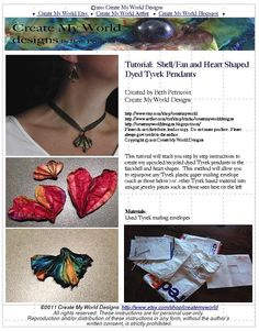 Tutorial Upcycle Tyvek Mailing Envelopes into Heart by OneMoreUse, $10.00