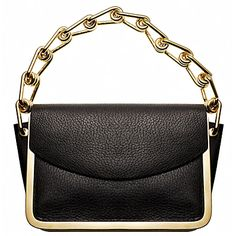 Reed Krakoff's Anarchy, a deer nappa sling clutch that's rimmed all round with gold-tone hardware.