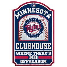 "Minnesota Twins 11x17"" Wood Sign"