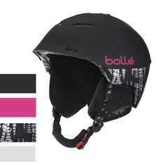 Bolle Synergy Ski Helmet Soft Black and Pink ** To view further for this item, visit the image link. (This is an affiliate link) Ski Helmets, Riding Helmets, Helmet Brands, Best Skis, Black Noir, Ski Wear, Mould Design, Weather Wear, Ski And Snowboard
