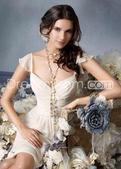 Charming A-Line Sweetheart Neckline Knee-Length Chiffon Bridesmaid Dresses