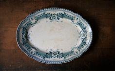 Antique English Ironstone Turkey Platter Bristol by susantique