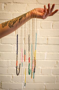 Balsam and Vine Vancouver color blocked necklace neon jewelry | Balsam and Vine