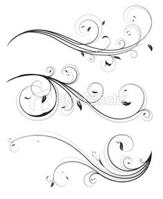 Buy Floral elements by PixelEmbargo on GraphicRiver. Vector set of swirling flourishes decorative floral elements Swirl Tattoo, Filigree Tattoo, Filigranes Design, Swirl Design, Mago Tattoo, Pinstriping Designs, Hand Lettering Alphabet, Geniale Tattoos, Scroll Design
