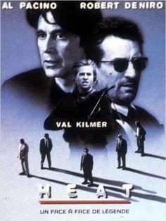 """Heat de M.Mann (1996) - La bande de Neil McCauley à laquelle est venu se greffer Waingro, une nouvelle recrue, attaque un fourgon blindé pour s'emparer d'une somme importante en obligations. Cependant, ce dernier tue froidement l'un des convoyeurs et Chris Shiherlis se retrouve obligé de """"terminer le travail"""". Neil tente d'éliminer Waingro, mais celui-ci parvient à s'échapper. Parallèlement, le lieutenant Vincent Hanna mène l'enquête..."""