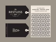 graphicdesignblg:  The Restless Co. II by Steve WolfFollow us on Instagram @graphicdesignblg   Get daily design inspiration at inzpired.tumblr.com… then go make something fucking awesome.