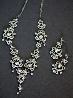 Swarovski Bridal necklace crystal necklace Bridal by simplychic93, $119.00