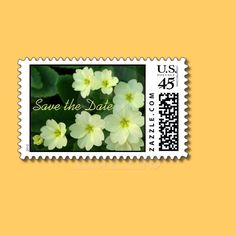 Butter cups Save the Date Postage
