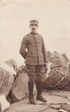 Italian Soldier in WWI, Oneglia (Imperia)