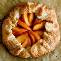 I've made this before I love how easy it is to just fold the crust over the peaches.