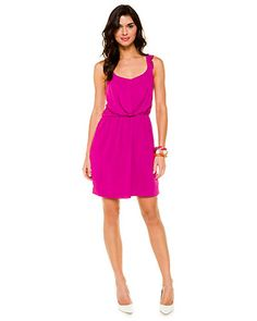 BCBGeneration Berry Ruffle Strap Dress