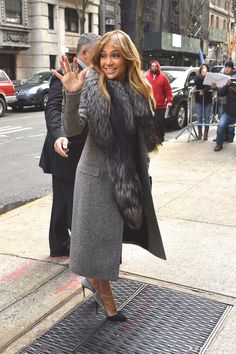 Pin for Later: Can't-Miss Celebrity Pics!  Jennifer Lopez made a pit stop on Good Morning America on Monday in NYC.
