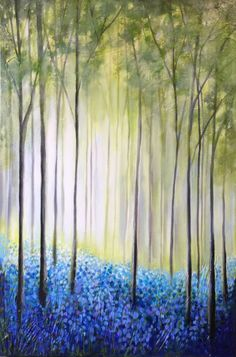 Buy Bluebell Wood, Acrylic painting by Jane Palmer on Artfinder. Discover thousands of other original paintings, prints, sculptures and photography from independent artists.