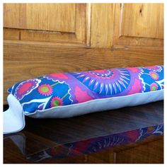 Psychedelic Draught Excluder Vintage Fabric & Natural Organic Denim by Retro68, £14.50