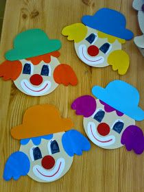 Picture Result For Art With Children Elementary School Clowns Clown Crafts, Circus Crafts, Carnival Crafts, Arts And Crafts For Teens, Art For Kids, Art Children, Diy Crafts Videos, Diy And Crafts, Preschool Crafts