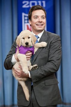 Jimmy Fallon + Puppy